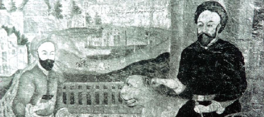 شیخ بهایی همراه حکیم میر فندرسکی