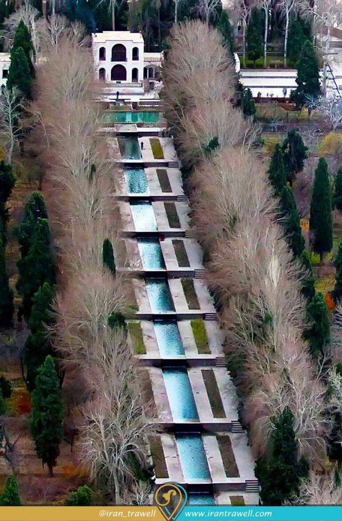 شیب باغ ایرانی در باغ شازده ماهان