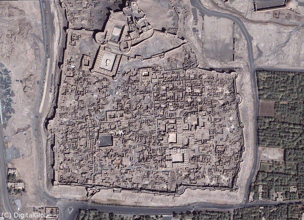 تصویر هوایی از ارگ بم