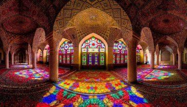 مسجد نصیر الملک شیراز   مسجد صورتی دلربا