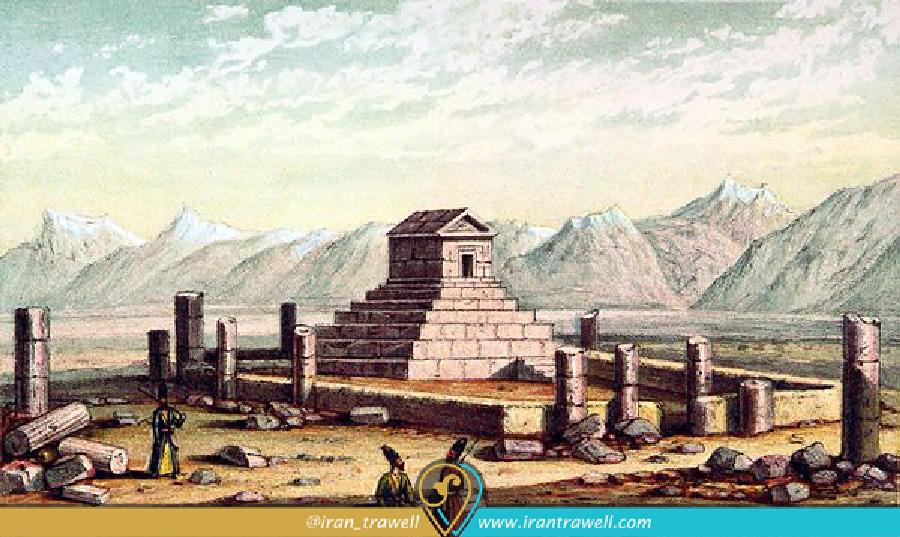 تصویری از پاسارگاد در قرن 18 میلادی