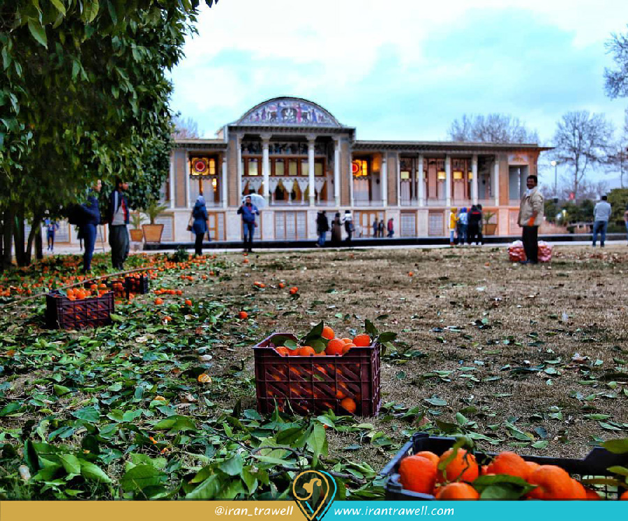 باغ عفیف آباد و درختان نارنج