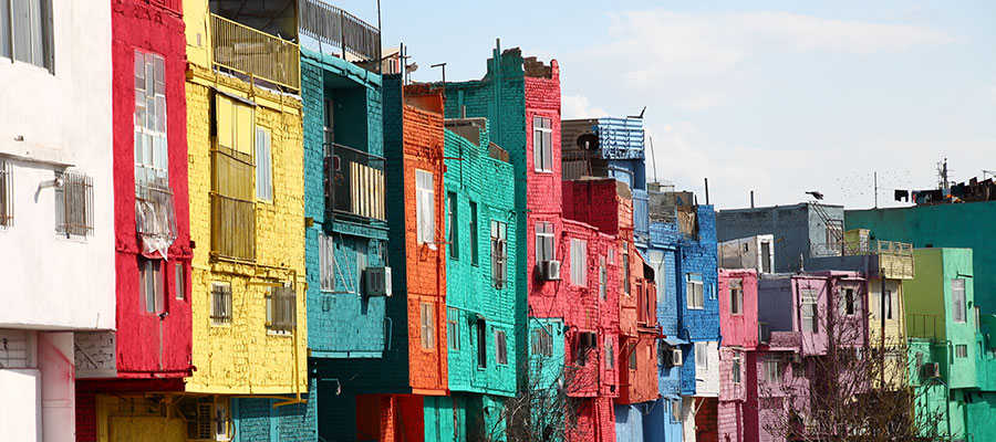 خانه های رنگی قزوین
