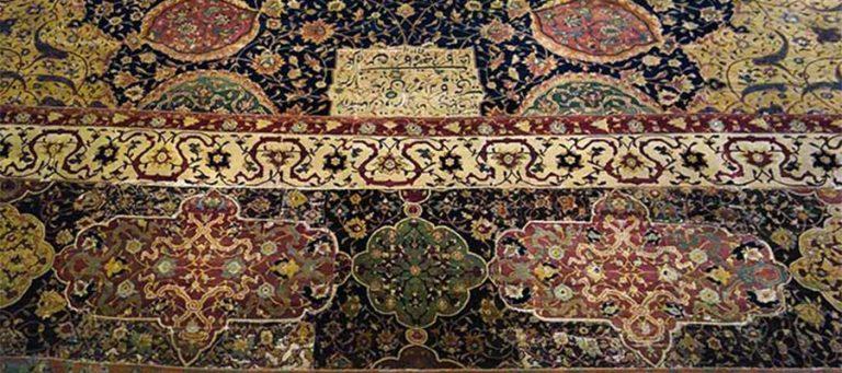 قالی مقبره شیخ صفی از دوره صفوی