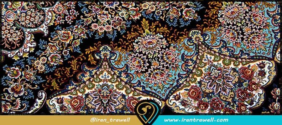 طرح گلستان فرش ایرانی