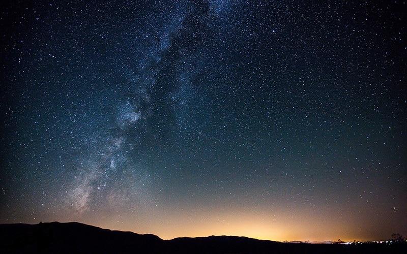 آسمان شب کویر